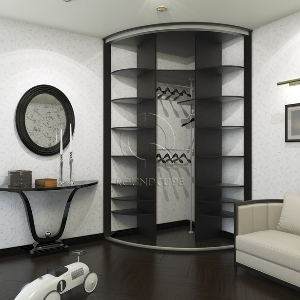 Радиусные шкафы-купе: фото, галерея работ.