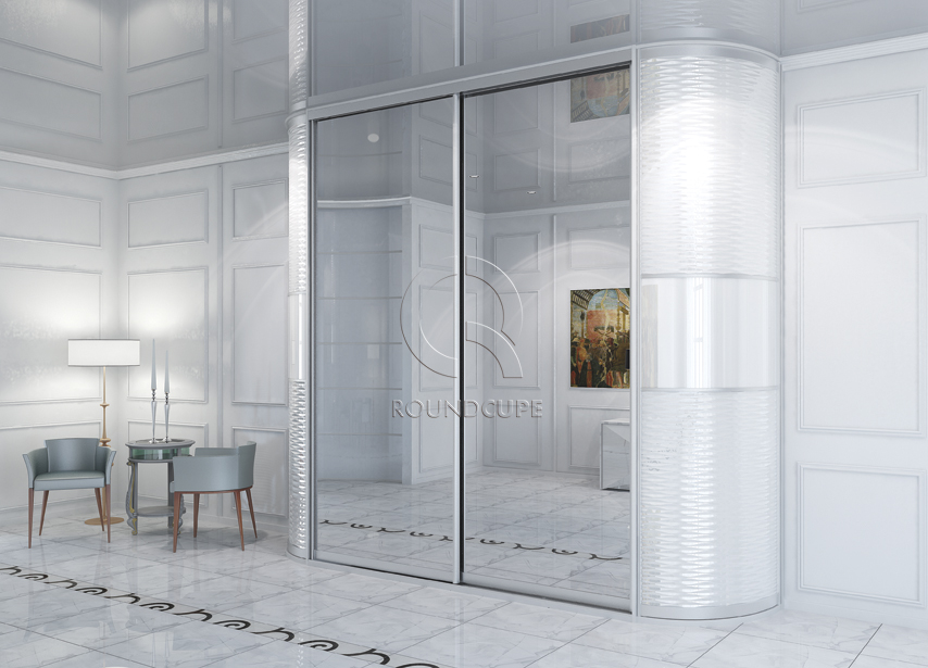 Радиусный шкаф-купе - bonawentura - мебель и фасады в екатер.